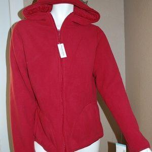 NWT Laura Scott Red Reversible Jacket Coat Hoodie